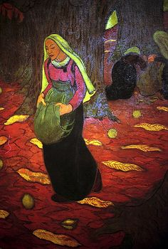 Georges Lacombe (French, Les Nabis, 1868–1916): Autumn: Chestnut Gatherers, 1894. - Google Search
