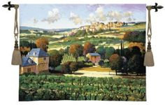 Vineyards of Provence Tapestry Wall Hanging #BeddingNMore #Tuscan #Decor #Decorating #Art