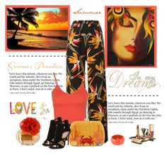 """Summer"" by molly2222 ❤ liked on Polyvore featuring Fendi, Topshop, Serpui, NOVICA, Coach, Dolce&Gabbana and Dsquared2"