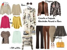 How to Create a Wardrobe Capsule Around a Patterned Hero - 7 tops 4 bottoms 3 toppers-84 outfits Inside Out Style