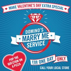 Domino's offers customers the chance to propose on a pizza
