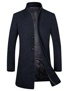 APTRO Herren Mantel reine Schurwolle Fashion Modern Business Lange Mantel Mantel Herbst: Amazon.de: Bekleidung