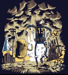 fallout adventure time! LOVE IT