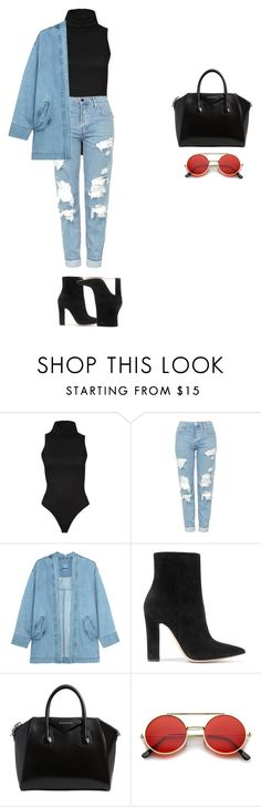 """FABULOUS"" by xoxotiffvni on Polyvore featuring Topshop, Steve J & Yoni P, Gianvito Rossi, Givenchy and ZeroUV"