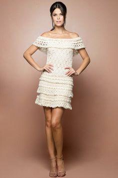 Strawberry Venice Crochet Dress - Vanessa Montoro - vanessamontorolojausa