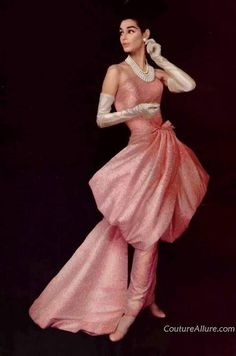 Evening wear by Givenchy, 1956.