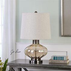 Uttermost Sava Amber Glass Lamp (27185-1)