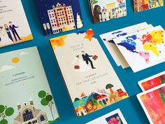 A Colorful Journey: Wedding Invitations on Behance