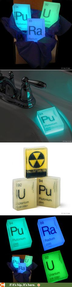 Glow in the dark Nuclear Element Soaps!