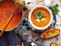 Butternut-Kürbissuppe mit Chili und Ingwer Rezept