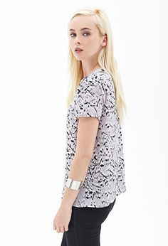 Abstract Printed Top | FOREVER21 - 2000083466