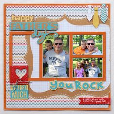 Amy is always creating the best scrapbook pages for her design team projects! Here's a wonderful layout for Father's Day and she says to snap lots of photos to capture the memory! You can check find out what kits she used and full instructions here: http://svgcuts.com/blog/2013/06/04/dads-day-layout-by-amy-mccabe/