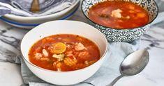 Csicseriborsós zöldségleves quinoával recept   Street Kitchen Soup And Salad, Chana Masala, Thai Red Curry, Quinoa, Ethnic Recipes, Food, Essen, Meals, Yemek