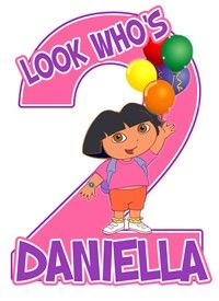 Dora the Explorer Birthday Custom by customtshirtdesigns on Etsy