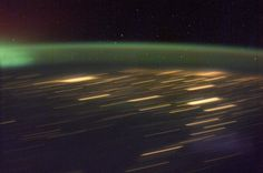 The northern lights create repetition.