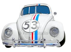 Iron-on application Herbie / VW kever