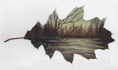 Acrylics by Nicole - Creative Leaf Paintings from Deviant Art