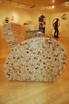 side view of the cork chair from urban-objects.  #corks