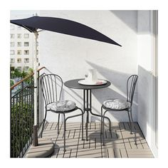 I would love this on a small patio off the master bedroom: Lacko Outdoor Set | 15 Affordable Ikea Patio Furniture And Decor