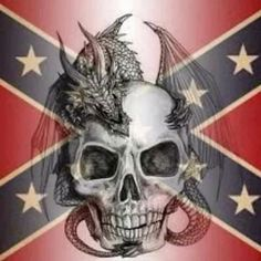 Rebel skull with dragon Southern Heritage, Southern Pride, Pride Tattoo, Queen Poster, Hulk Art, Funny Baby Memes, Flame Art, Confederate Flag, Rose Pictures