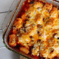 Cowboy Casserole - just another version of Tater Tot casserole made in the crock pot