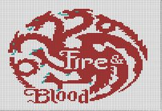 Ravelry: House Targaryen Banner (Game of Thrones) pattern by Rayann Schell