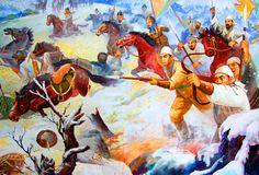 Korean army defending their homeland during the Mongol invasion of Korea