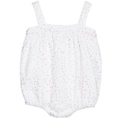 Baby Girls Ivory Muslin Shortie with Hearts, Aden & Anais, Girl