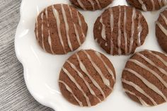 Hot Chocolate Cookies with Marshmallow Glaze ~ http://www.bakeorbreak.com