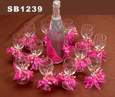 Set de brindis con 12 copas - Quinceañeras Wedding Inc.