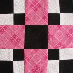 quilt block idea. My haylie would love this for her room it's black, hot pink and zebra so it would match!!!!