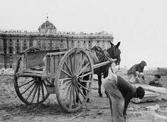 A orillas del Palacio Real. (Madrid, principios S.XX)
