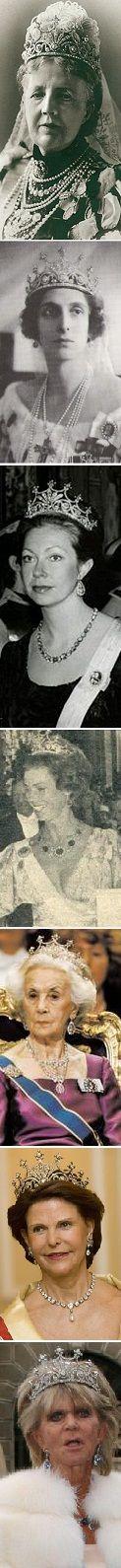 Queen Sofias diamond tiara Queen Sofia Queen Louise Princess Christina Princess Margaretha Princess Lilian Queen Silvia Princess Birgitta