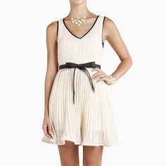 Leather Trim Swing Dress...I wish I could wear dresses...