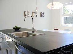 Paperstone countertops --- made out of all recycled paper and fibers.