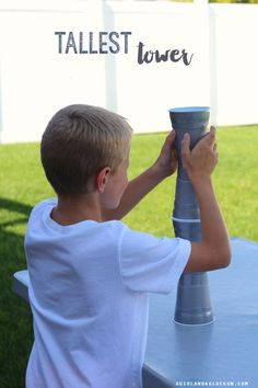 Tallest Tower Cup Game