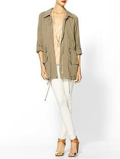 This will be perfect for the fall. Hive & Honey Brushed Twill Anorak | Piperlime