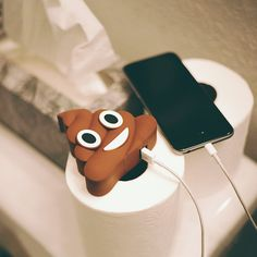 Only best friends gift Poop Emoji chargers.
