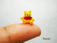 Tiny Crochet Miniature Winnie The Pooh - I wouldn't know how to begin to crochet that small!!