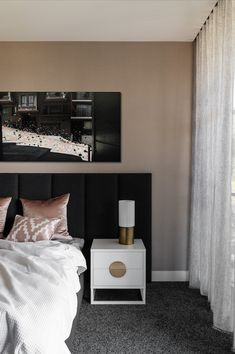 Dark and moody artwork above the bed. Available in 2 sizes. Global limited edition of 150. Beautiful Interiors, Floating Nightstand, Dark, Bed, Artwork, Furniture, Home Decor, Floating Headboard, Work Of Art