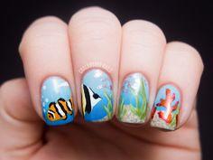 Amazing!!  Chalkboard Nails: Ocean Scene Nail Art  www.chalkboardnails.com