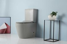 Source Modern Fashionable Design Matt Grey Color Bathroom Ceramic Flush Toilet MJ 2807 on m.alibaba.com Grey Toilet, Modern Toilet, Flush Toilet, Month Colors, Bathroom Toilets, Bathroom Colors, Mj, Basin, Gray Color