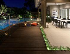 A designer outdoor entertaining area built to party Decking Area, Outdoor Living Areas, Blue Design, Outdoor Entertaining, Open Plan, Garden Design, Home And Garden, Backyard, Landscape