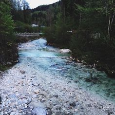 Amazing blue river #Alps #mountains #river #forrest #hiking #bavaria #evening #berchtesgaden #germany #travel