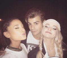 Ariana Grande, Garrett Clayton and Dove Cameron