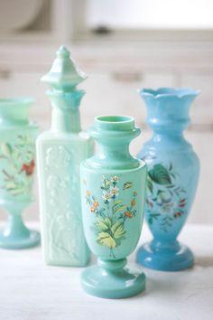 vintage aqua & mint lovelies