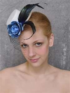 English rose top cocktail hat