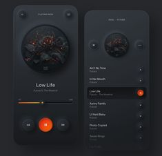 Music Player Brain By: Use Community and Get Free Features —————————————————— - Photo Inspiration: Web Design Mobile, Web Mobile, Dashboard Design, App Ui Design, Design Design, Flat Design, Site Design, Gui Interface, Interface Design