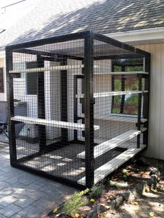 Patio cat enclosure. Beautiful World Living Environments www.abeautifulwor...