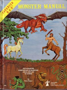 AD&D Monster Manual - sold along with the Player's handbook and Dungeon Masters Guide. The three volume set made the standard that all later editions followed.